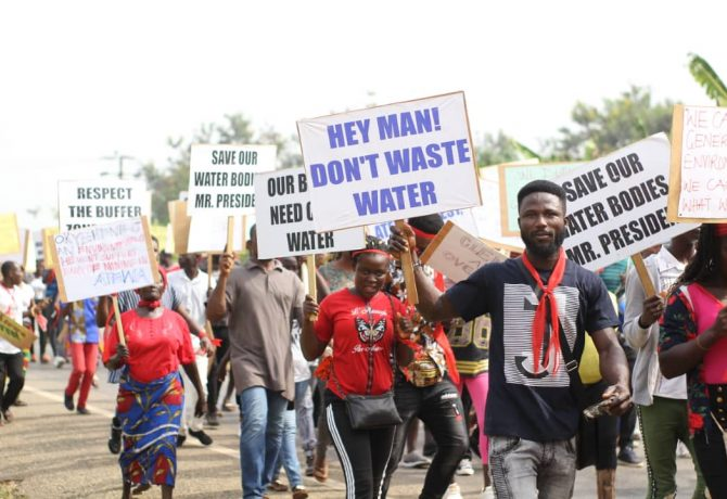 Another Demo Hits Kyebi Against Atewa Forest Mining